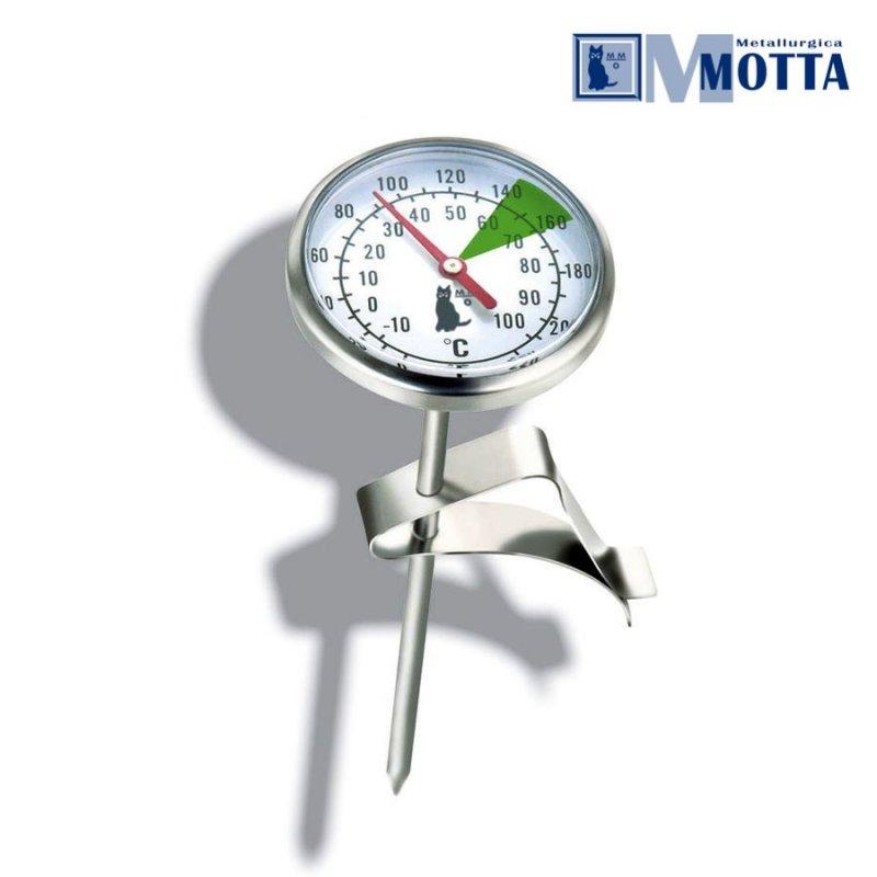 thermometer mit halterung aus edelstahl f r milchk nnchen eintauchthermometer. Black Bedroom Furniture Sets. Home Design Ideas
