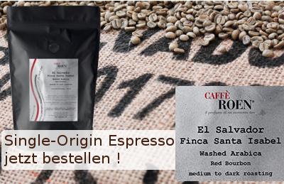 Caffe Roen Single Origin Espresso El Salvador jetzt bestellen