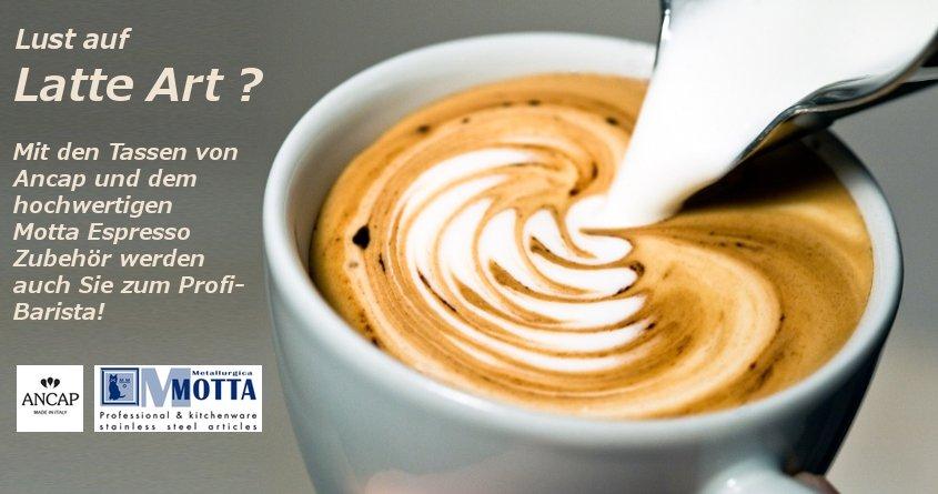 Latte Art mit Motta Espresso Zubehör