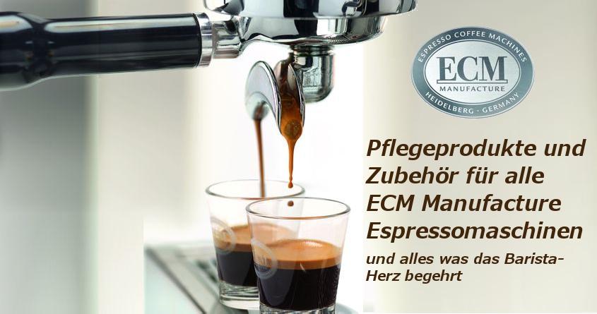 ECM Pflegeprodukte und ECM Zubehör